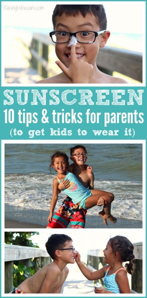 Sunscreen tricks for parents
