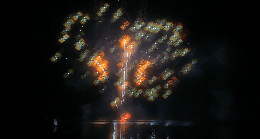 Brick or treat fireworks