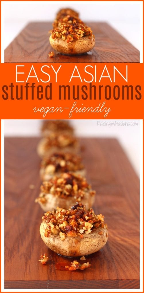 Asian stuffed mushrooms vegan
