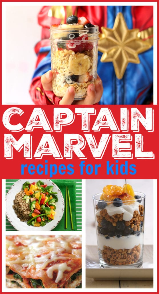 Captain marvel kids recipes 4 Healthy Captain Marvel Recipes for Kids -4 Healthy Captain Marvel Recipes for Kids | Easy meal ideas, fun party food inspiration, & more quick kid-friendly dishes featuring your child's super hero #Recipe #CaptainMarvel #Recipe #HealthyRecipe #Snack