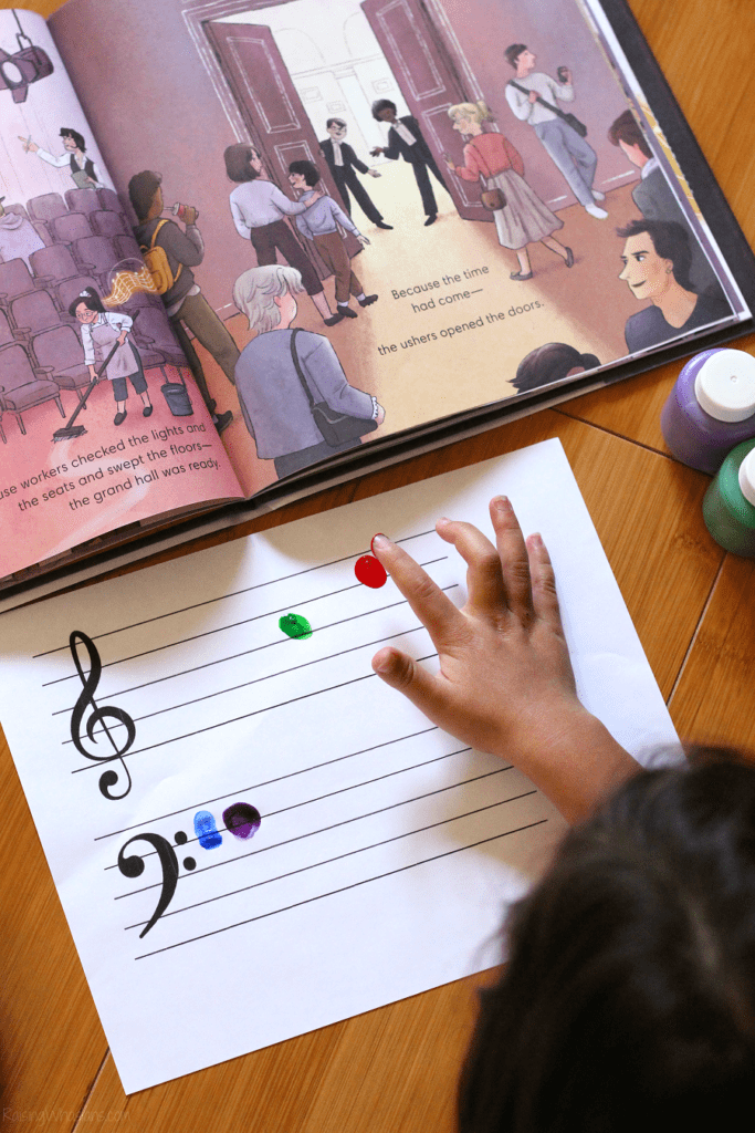 Fingerprint music notes