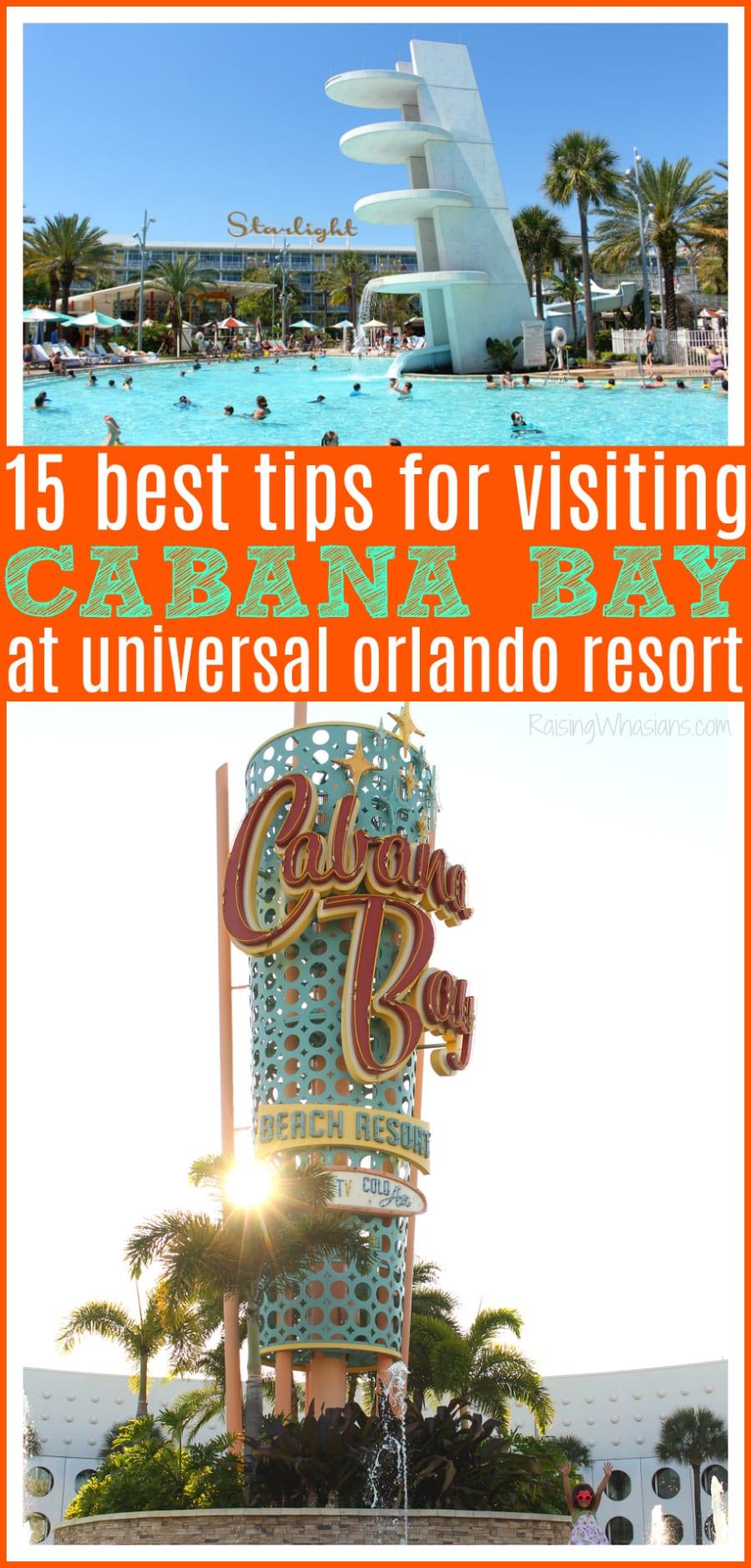 Universal Orlando cabana bay tips