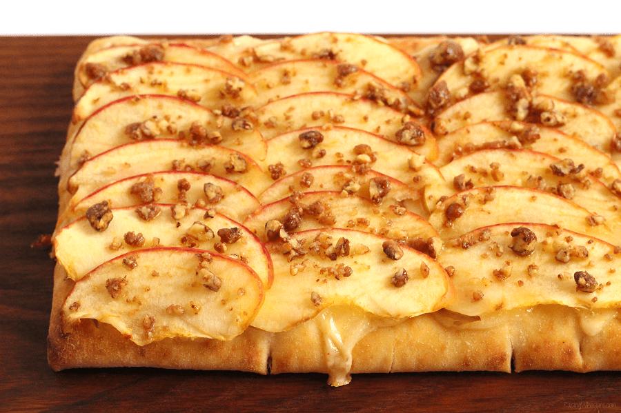 Easy apple flatbread