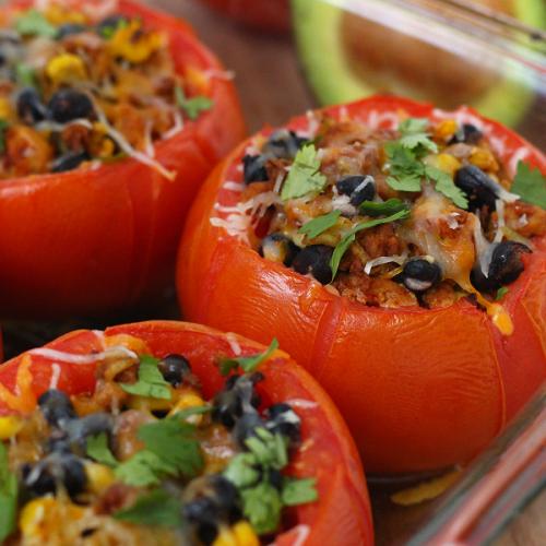 Easy taco stuffed tomatoes