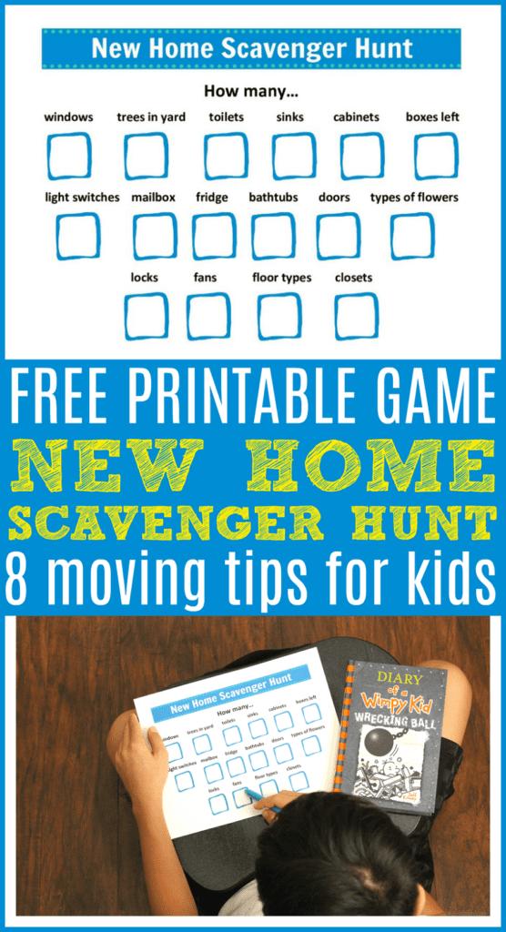 Free printable scavenger hunt game