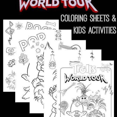 Free trolls world tour coloring sheets