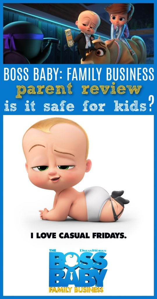 Is boss baby family business safe for kids