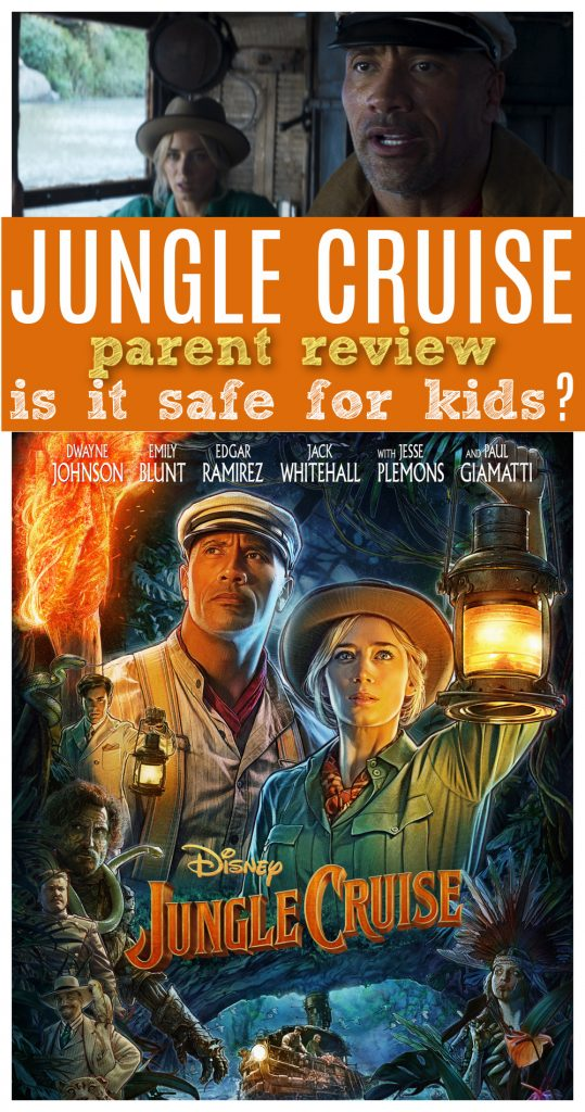 Is jungle cruise movie ok for kids