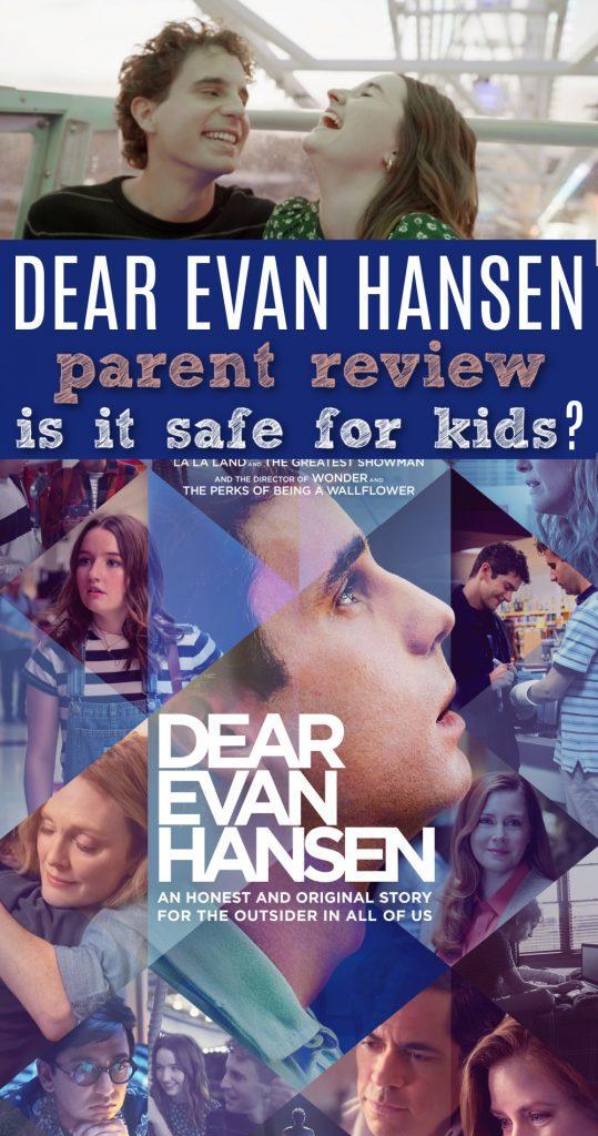 Dear Evan Hansen movie review for parents