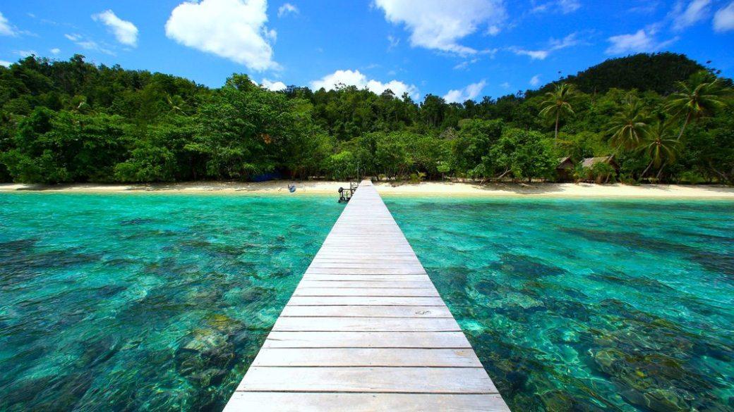 Dónde está Raja Ampat - playa