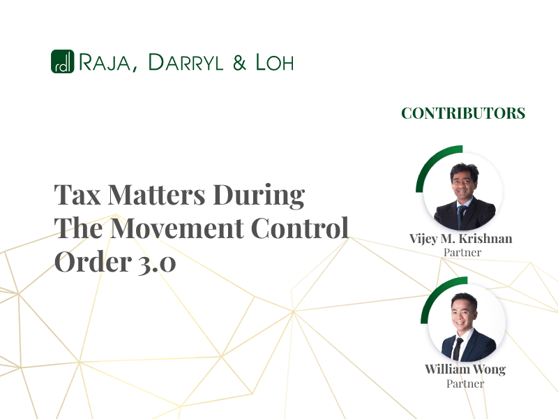 tax matters during mco 3.0