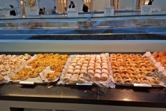 Pastries at breakfast buffet at Oriente Atrim in Barcelona