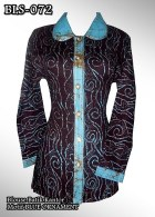 blouse batik wanita biru muda
