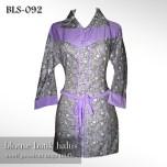 BLS-092 Blouse Batik Halus - Motif Pesisiran UNGU MUDA1