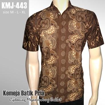 KMJ-443 Kemeja Batik CIPTONING MEGAMENDUNG COKLAT