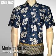 Kemeja Batik Modern | Ornamen Tumpal BIRU | KMJ-542 - www.tokopedia.com/rajapadmibatik