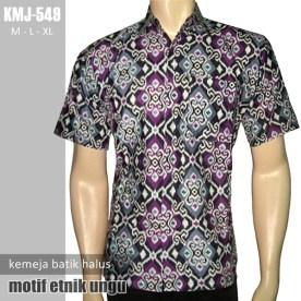 KMJ-549 Kemeja Batik Halus Modern - Batik Etnik Ungu