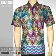 KMJ-550 Kemeja Batik Halus Modern - ETNIK PELANGI