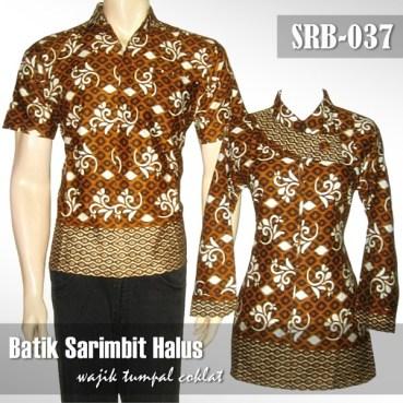 SRB-037 Batik Couple Sarimbit Halus - Wajik Tumpal COKLAT