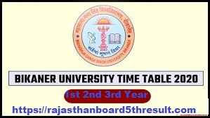 MGSU BA Time Table 2020