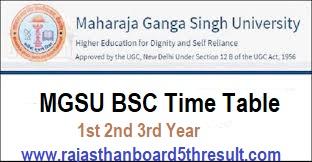 MGSU BSC Time Table 2020