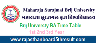 Brij Universty BA Time Table 2020