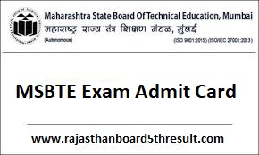 MSBTE Admit Card 2020