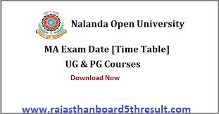 Nalanda Open University Time Table 2020