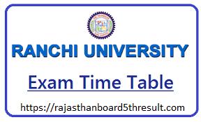 Ranchi University Time Table 2020