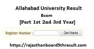 Allahabad University Bcom Result 2020