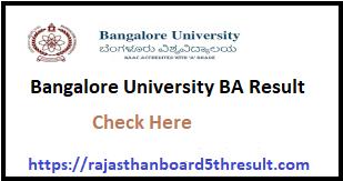 Bangalore University BA Result 2020
