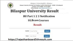 Bilaspur University BCom Result 2020