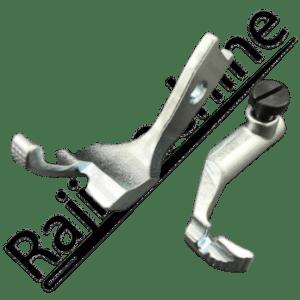 Pied de biche triple entrainement passe-poil 4 mm PFAFF 145 et 545 pied interne/externe