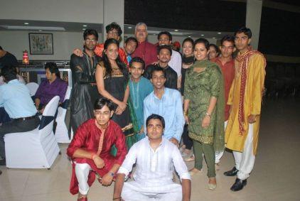 Rajiv Bajaj with IITTM students at the freshers party.