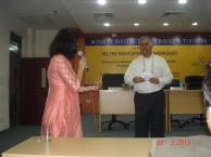 Rajiv Bajaj Interacting with faculty and students at Amity University Noida