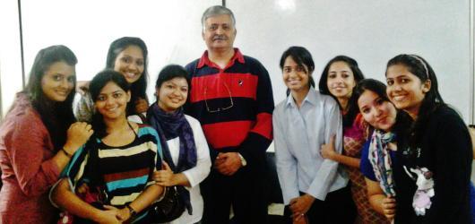 Rajiv Bajaj with IITTM Noida students