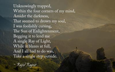 New Poem by Rajivji – Step Into the Light