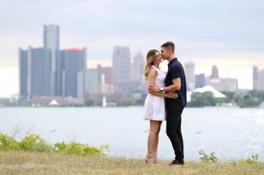 Jul 16, 2016; Detroit, MI, USA; Engagement photos of Alex and Doug. © Raj Mehta Photography LLC
