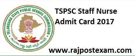 TSPSC Staff nurse admit card