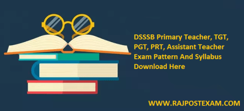 DSSSB Primary Teacher Syllabus
