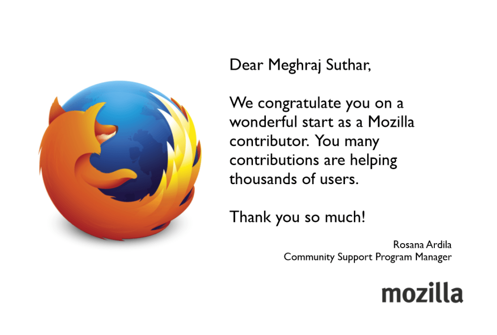 Mozilla Journey from Jodhpur to San Francisco (2/5)