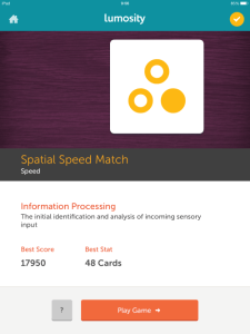 Spatial Speed Match