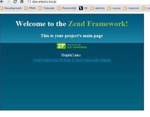Zend Framework standaard afbeelding