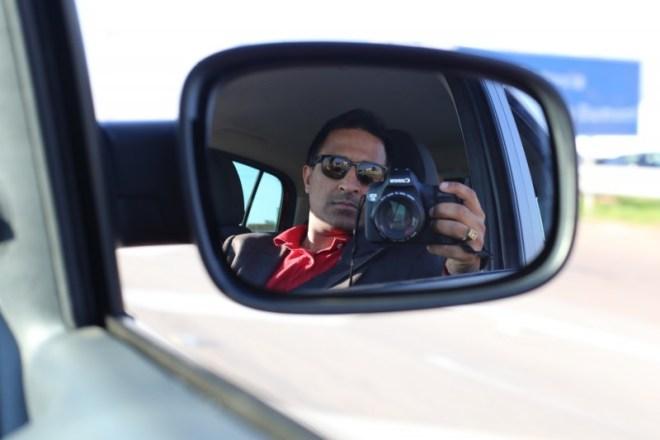 SLR selfie