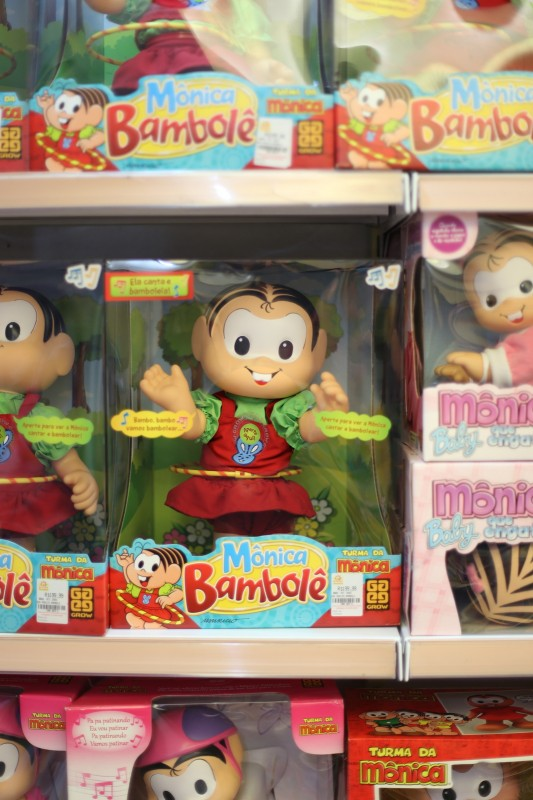 Brazilian doll in a toy store (was one of the few non-US toys, like Dora and Boots and Caillou)