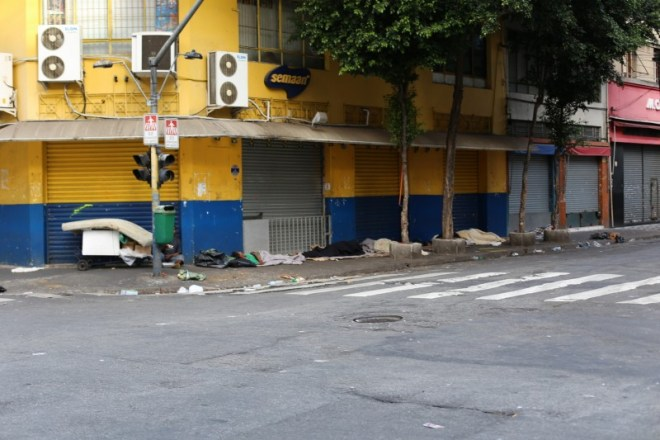 This was the other neighborhood I visited. On Sunday, it was nearly uninhabited and wasn't as clean as the area that I was staying in.  Lots of trash strewn on the streets and quite a few homeless people sleeping up against the walls.