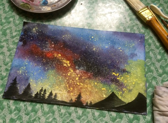 Starry Sky (Watercolor)
