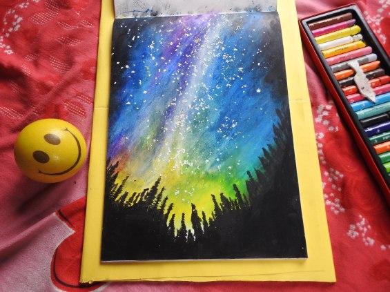 Starry Sky (Oil Pastel)