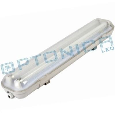 Светодиодный светильник на две лампы Т8 IP65 одностороннее питание