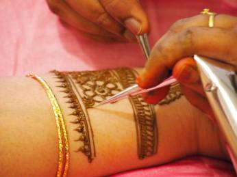 Carefully Applying Mehendi